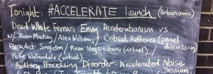 Urbanomic Events: Launch of #Accelerate, 14 May 2014 - banner image