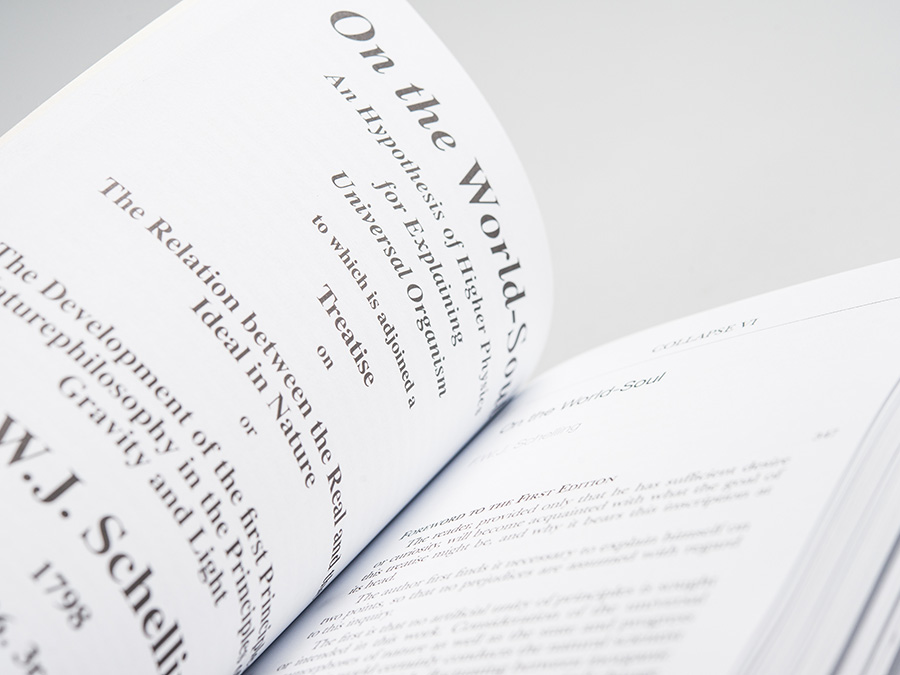 'Collapse 6: Geo/Philosophy', published by Urbanomic (detail)