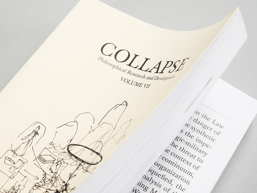 'Collapse volume 7: Culinary Materialism', published by Urbanomic (detail)