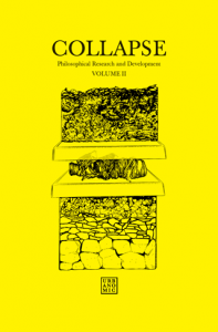 'Collapse volume 2: Speculative Realism' (reissued edition), published by Urbanomic