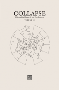 'Collapse volume 6: Geo/Philosophy', published by Urbanomic