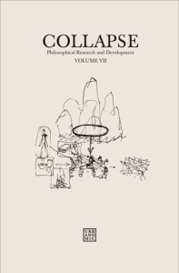 'Collapse volume 7: Culinary Materialism', published by Urbanomic