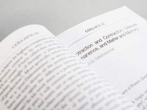 'Collapse Volume 3: Unknown Deleuze', published by Urbanomic (detail)