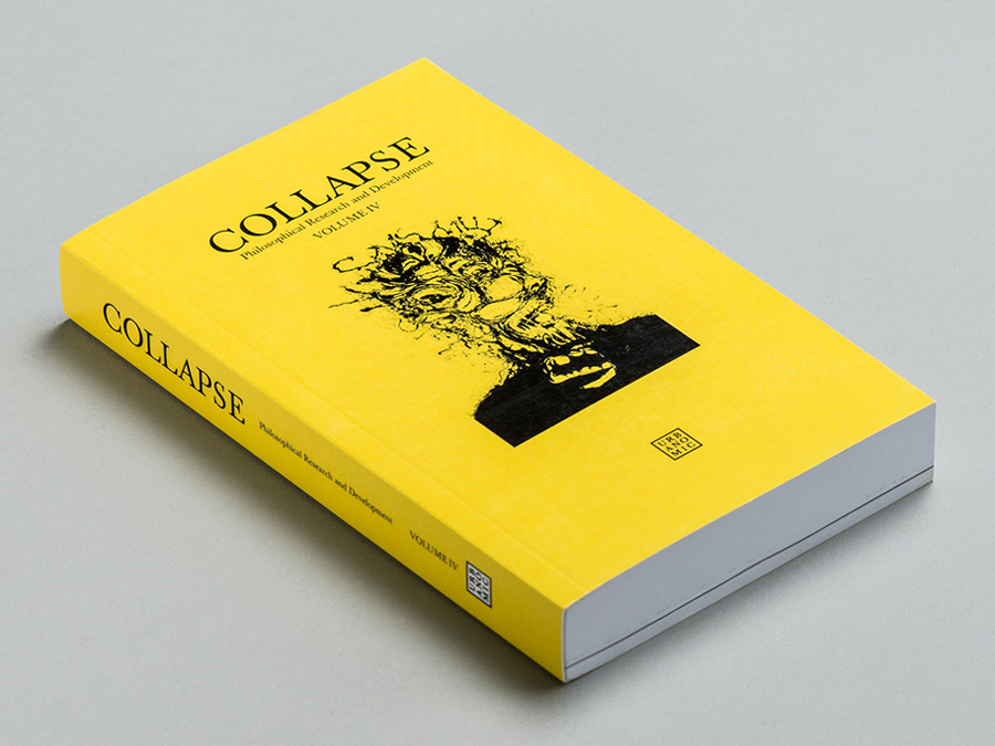 'Collapse 4: Concept-Horror', published by Urbanomic (reissued edition)
