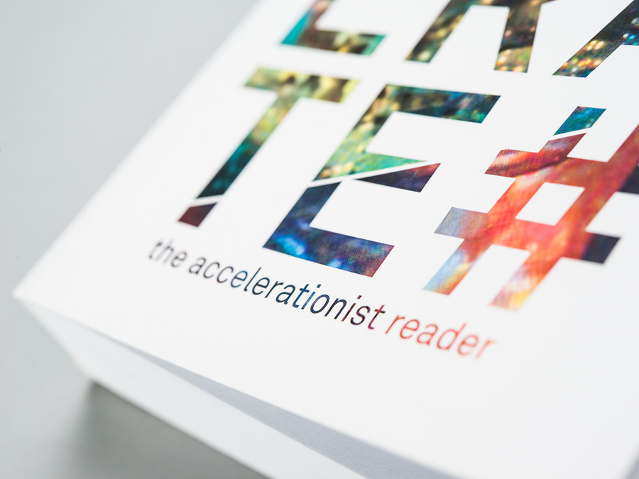 '#Accelerate: The Accelerationist Reader', published by Urbanomic with Merve (detail)