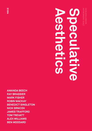 'Speculative Aesthetics', published by Urbanomic