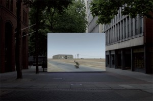 Art Card by John Gerrard for Urbanomic's 'Simulation, Exercise, Operations' (5 of 5)