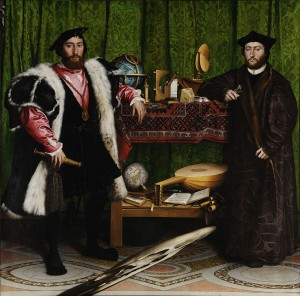The Ambassadors, 1553 (oil on canvas) by Holbein, Hans the Younger (1497/8-1543)